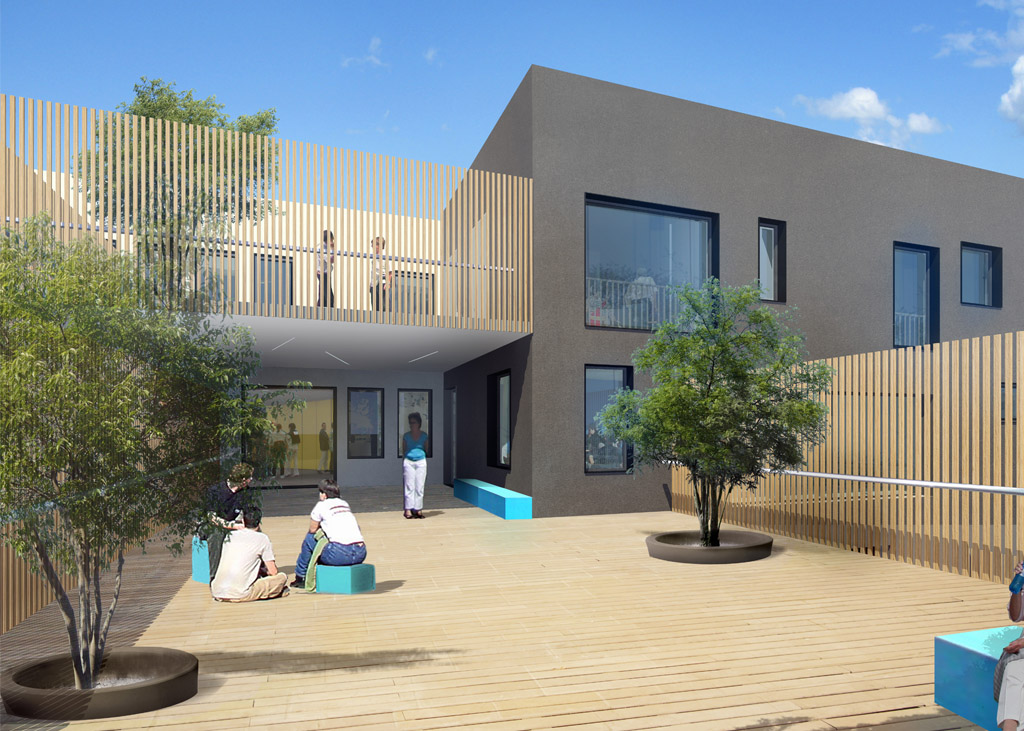 kilinc architecture h pital du vinatier bron. Black Bedroom Furniture Sets. Home Design Ideas